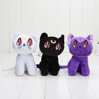 anime plush doll sailor moon - 6 cm Anime Sailor Moon Cat Luna Artemis Stuffed Animals Plush Doll Soft Toys for kids