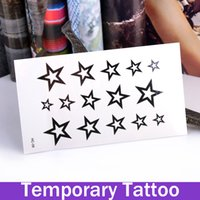 arms points - Temporary Tattoos Large Arm Fake Transfer Tattoo Stickers Sexy Spray Waterproof tatoo temporary stickers five point star