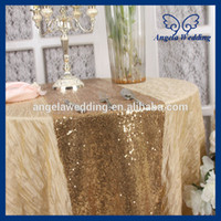 beautiful table runners - RU009E1 hot sale beautiful cheap fancy weddding sequence decorative gold sequin table runner