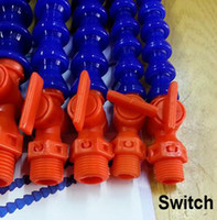 Wholesale 1 quot PT Round and Flat Nozzle Flexible Plastic Water Oil Coolant Pipe Hose for Lathe CNC with Switch