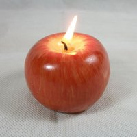 Wholesale Vintage Apple candle home docor romantic party decorations Apple scented candles Birthday Christmas wedding decor candles