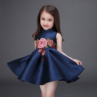 archives photo - mitun spring Xia Nvtong Dress high archives Europe and America Full dress embroidered thick and disorderly princess skirt Factory direc
