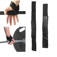 ankle lifting strap - New Arrival Black Wrist Support Gloves Wrap Hand Bar Straps For Weight Lifting Gym