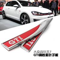 Wholesale car Emblem side fender red decorative standard stickers for VOLKSWAGEN VW Golf mk7 GTI