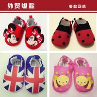 bee mouse - 2015 Design Baby Boys Girls soft cotton Babies Elastic Non slip toddler shoes Superman mouse flag cute bee Printed baby toddler shoes
