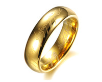 lord of the rings ring tungsten - The newest gold silver ring The hobbit ring The Lord of the rings ring Tungsten steel men s ring