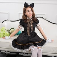Wholesale Japanese Princess Lolita skirt anime cosplay lovely maid outfits Maid Apron Dress meidofuku coffee house maid uniform
