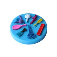 bakery items - Mini Comb Scissors Fondant Silicone Molds For Cake Decorating D Sugarcraft Bakery Kitchen Items Home Garden BD033