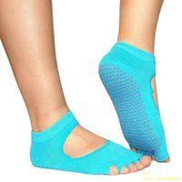 Wholesale Men and Women Dig back Professional Yoga Socks Five Fingers Antiskid Backless Five Toe Socks Yoga Sports Socks Freeshipping