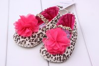 Wholesale 2014 New Leopard grain flower infantil baby girl shoes sequins first walker baby shoes For