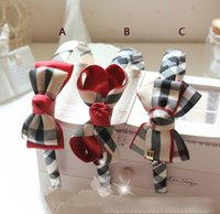hair sticks - England Style Girls Hair Sticks Lovely Plaid Bowknot Students Girl Boutique Hair Clasp Kids Graceful Hairband Child Hair AccessoriesK3259