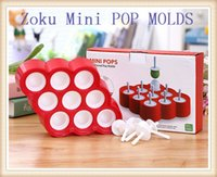 popsicle stick - ZOKU Mini POP MOLDS Popsicle Mold Sticks With Drip Guards Homemade Pops DIY Invert Easily