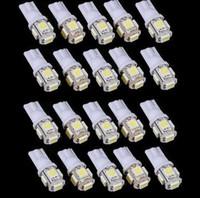 al por mayor azul xenón h1-T10 5 SMD 5050 Bombillas LED Side Car 194 168 161 168 W5W de la cuña de xenón 12v blanco azul rojo amarillo