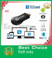 Wholesale HDIM TV Dongle M2 Ezcast HD P Mini Pc Wifi Media Player TV Receiver Box EZCast EZ Cast Support Sharing Online Streaming ship