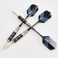 Wholesale 9pcs Nickel Plated Steel Darts Needle Aluminum Dart Shaft D Laser Light Dart Flights For Outdoor Games Bar Exercises