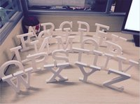 wood letters - 2015 New Hot sale Freestanding Beautiful Wood Wooden Letters White Alphabet Wedding Party Home Decorations