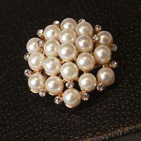 amber glass beads - Fashion Brooches Multi Beads Pins Bridesmaid Flower Girl Wedding Pearl Rhinestone Tara New Flower Pin Brooch Wedding Custome ZYY