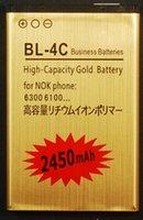 al por mayor 4c de la batería bl-Freeshipping Original 3.7v 2450mah oro BL4C batería BatterY para Nokia 6700 5630 6700S 2720 7210 5630XM 6600f 6702s 6600 BL-4C Batería