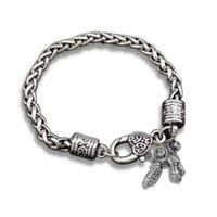 antique poodle - 5Pcs Zinc Alloy Antique Silver Plated Hand made Stylish Poodle Animal Charm Bracelets Jewelry For Making