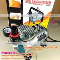 Portátil da Composição do Airbrush Mini Compressor de Ar 220V Pistão do Óleo-menos o Silêncio Spray Arte do Prego Escova de Ar - FRETE GRÁTIS