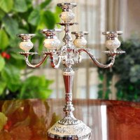 Wholesale European style Metal Arm Candlestick Home Hotel Ktv Supplies Wedding Romantic Wedding Gifts