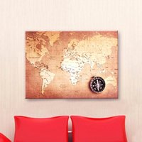 Cheap Newest Canvas World Map Retro Vintage Antique Poster Wall Sticker Chart Home Decor order<$18no track