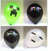 Wholesale High Quality Green White Black Creeper Minecraft Balloon Minecraft Party Material Must Haves Balloons Christmas Cartoon Balloon Toys