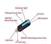 Wholesale New Hot sale Spy Camera Mini DVR U8 HD Mini USB Disk Spy Camera DVR Motion Detect Camera Cam Hidden Camera