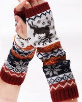 arm warmers wool - PrettyBaby Hot sale women Autumn winter knitted wool Arm cuff warmers Animals fawn gloves DHL for