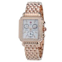 michele watch - Michele Watches Women s Signature Deco Rose Gold Diamond Diamond Dial MWW06P000109