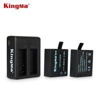 Wholesale KingMa original New SJ4000 V Li on mAh Battery Charger Backup Rechargable Battery For SJ4000