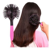 Wholesale Hot Hair Care Styling Brush D Tangle Hair Comb Teezer Professional Dangling Hairbrush Round Hair Massage Brush Comb Beauty Tool