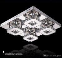 Wholesale Ceiling LED living room lamp bedroom lamp rectangular crystal lamps lights modern minimalist