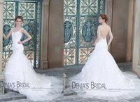 Trumpet/Mermaid Model Pictures 2015 Spring Summer 2015 Real Photos Wedding Dresses Mermaid Sweetheart Straps Backless Appliques Beads Tiers Lace Hem Court Train Wedding Gowns Dhyz