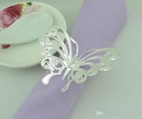 Butterfly napkin rings wedding