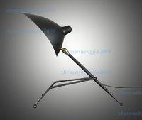 Wholesale Serge Mouille table lamp Pole Lamp Sabre Rattling Swing Duckbill table light desk lighting reading light metal bionic design lamp tripod