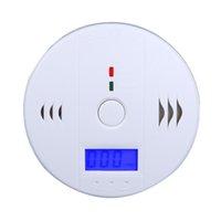Wholesale High Sensitive LCD CO Carbon Monoxide Poisoning Fire Alarm Sensor Monitor Smoke gas Detector White shipping dropshipping