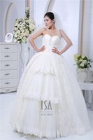 autumn trailer - Delicate Ball Gown Wedding Dress Sweetheart Sleeveless Backless Applique Lace Floor Length With Trailer Organza Bridal Gown LYJ011610