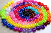 Wholesale 2015 wholesalel Colorful Elastic Rubber Hair Ties Band Rope Ponytail Holder for Girl Kids pieces