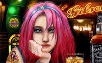 alcohol packaging - art girl pink hair bar alcohol Jack Daniels Jack Daniels piercing ring tattoo glass ice x36 inch art silk poster Wall Decor