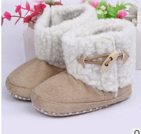cotton fabric uk - New Fahion Infant boys girls toddler baby boots shoes UK infant snow boots Boys Girl Warm Winter Snow Shoes Boots Colors choose