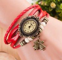 bell - 10PCS Unisex Vintage Bell Bracelet Watches Infinity Twisted Watches Women Bracelet Watches Quartz watches Wrist Watches