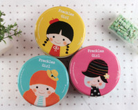 Wholesale NEW Ballet Girl small round tin cans Storage Pitting girls round tin cans box dandys