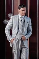 best handkerchief - Custom Made Fashion Tuxedos Best Men Suits High Quality One Button Three Piece Suit Formal Men Suits Jacket Pants Tie Vest Handkerchief