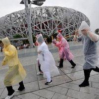 Wholesale Fashion Hot Disposable PE One time Raincoats Poncho Rainwear Travel Rain Coat Rain Wear gifts mixed colors