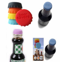 Bar beer bottle caps lot - New idea Soft Silicone Bottle Cap Wine Beer Saver Multicolour For Kitchen Bar Food Grade