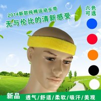 Wholesale Authentic cotton sweat band running basketball headband turban headband nursing care forelock hoop caps for men and women