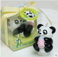 Wholesale Children s birthday party supplies creative birthday candles Smokeless candles National treasure panda small candle s