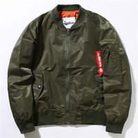 army flight jackets - MA1 Bomber Flight jacket KANYE WEST tour jackets limit edition young mens hip hop streetwear Warm winter coats