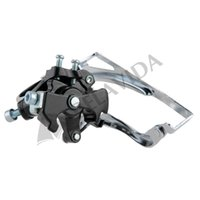 bicycle front derailleur - Bike Bicycle Cycling Stainless Steel Front Derailleur Black Silver